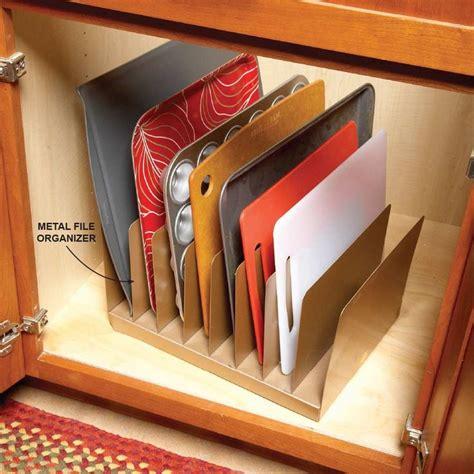 cabinet organizers best 25 cutting board storage ideas on