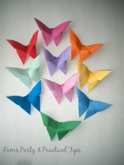 paper butterflies origami pams practical tips cinderella butterflies and