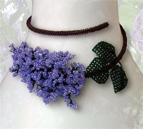 beaded necklace ullabenulla beaded flower necklaces
