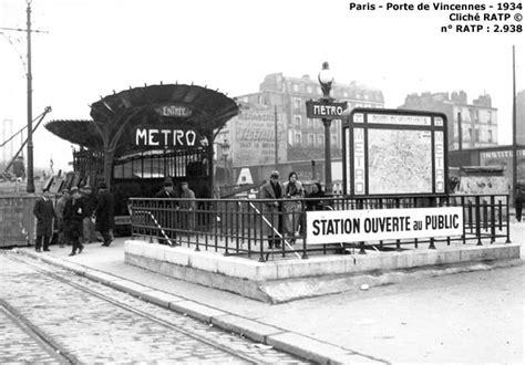 m 233 tro porte de vincennes ligne 1 1934 ratp