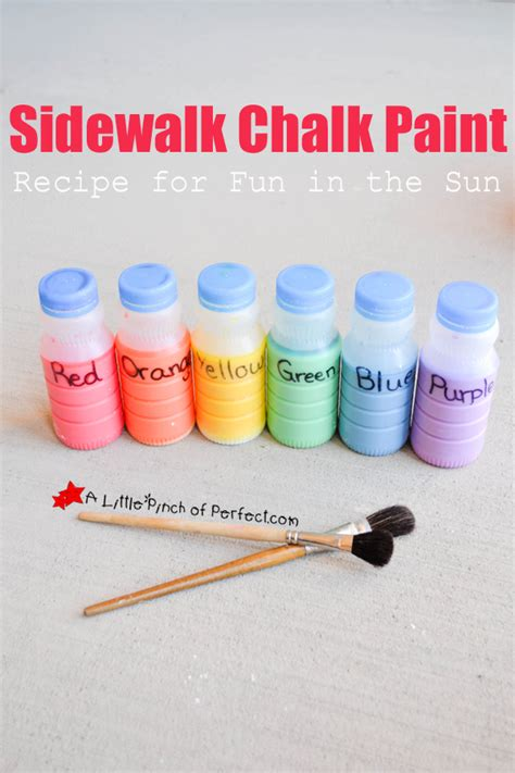 diy sidewalk chalk paint recipe sidewalk chalk paint recipe for in the sun