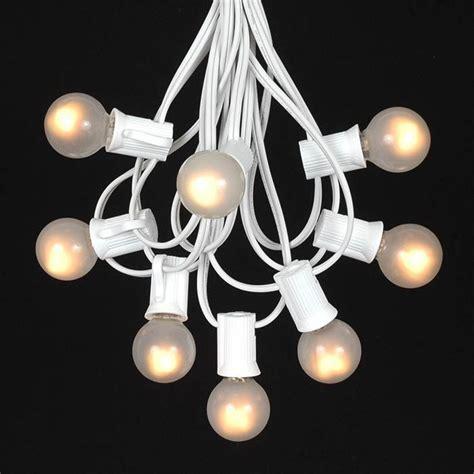 white light string frosted white g30 globe outdoor string light set on