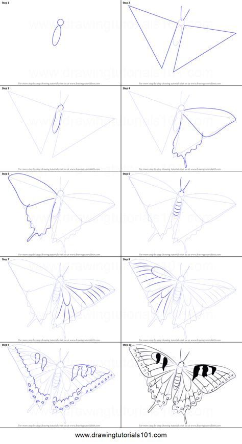 butterfly step by step how to draw a swallowtail butterfly printable step by step