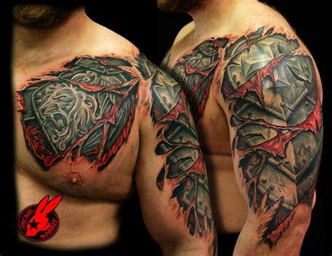 53 amazing armor shoulder tattoos