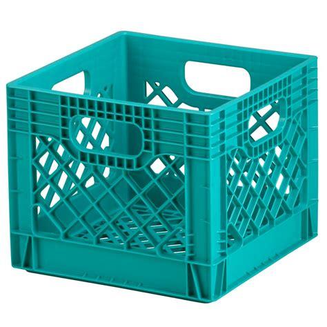 blue milk crate storage the land of nod