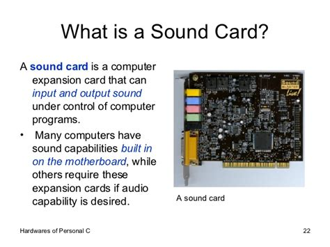 what is card what is a sound card