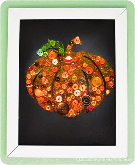 autumn crafts for button pumpkin easy autumn craft