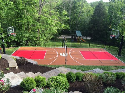 backyard court choosing colors for your backyard court or home