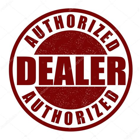 Authorized Dealer St Stock Vector 169 Roxanabalint