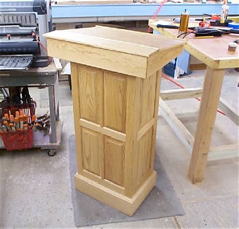 podium woodworking plans podium plans find plans for the pedistal here