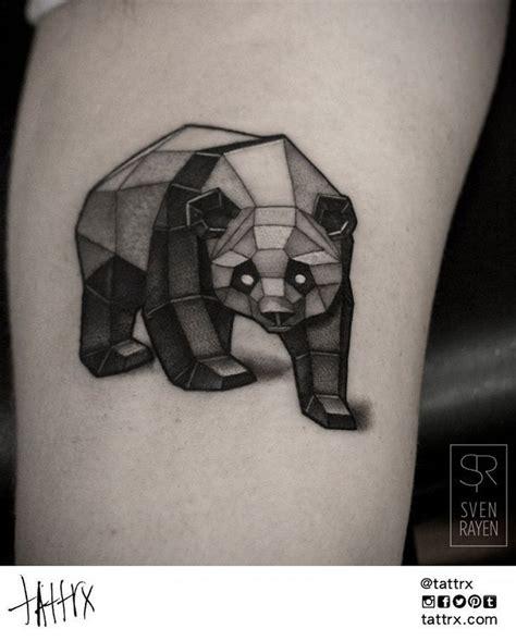 tatouage ours panda g 233 om 233 trique tatouage animaux