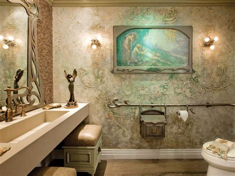Bathroom Art Ideas art nouveau inspired bath hgtv