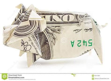 origami pig dollar dollar origami pig isolated stock photo image 62111931