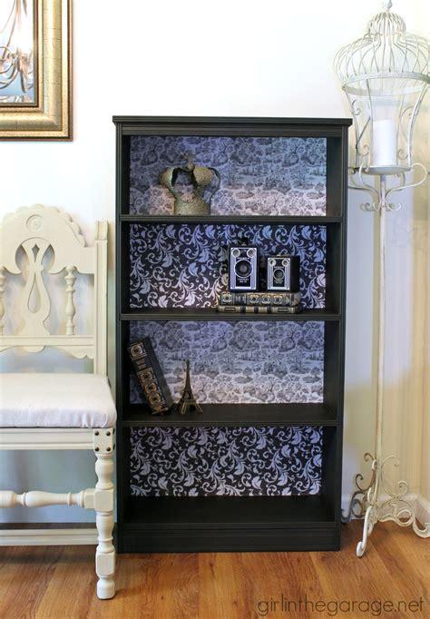 decoupage bookshelf diy decoupage bookcase in the garage 174