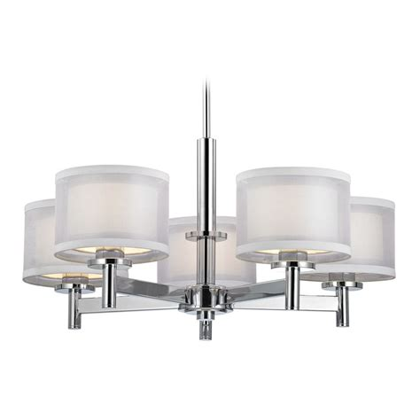 chrome and chandeliers modern chandelier with white shades in chrome finish