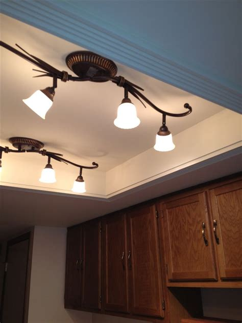 fluorescent kitchen lights convert that recessed fluorescent ceiling lighting