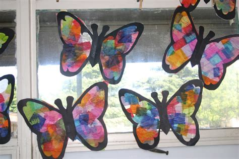 Butterfly Suncatchers Tissue Paper Craft Ted S