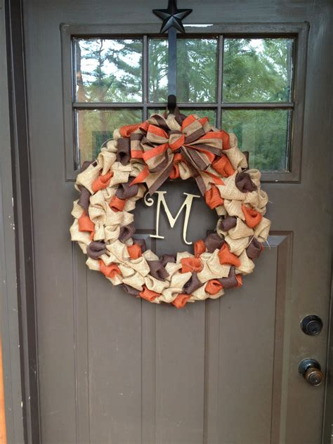 18 inch fall burlap wreath by maggieleighcreations on etsy