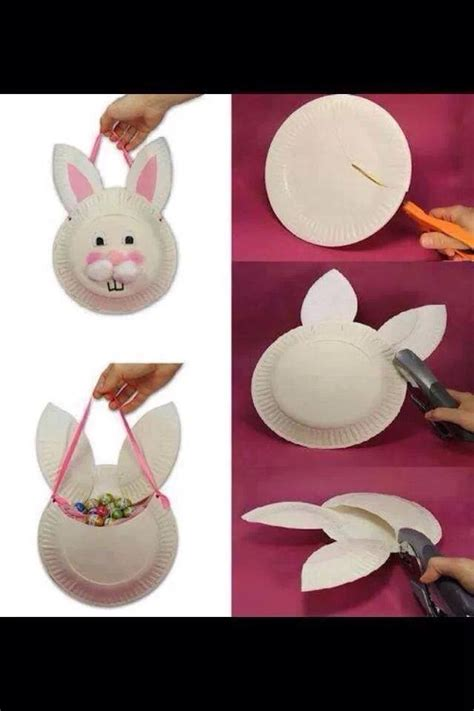 easter bunny paper plate craft easter bunny paper plate craft samc crafts ideas