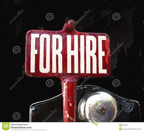 for hire for hire sign stock photo image of classic antique
