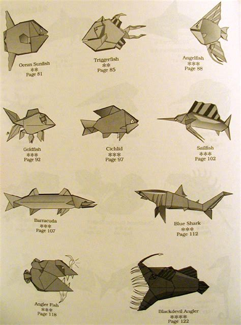 origami sea animals barracuda animal crafts