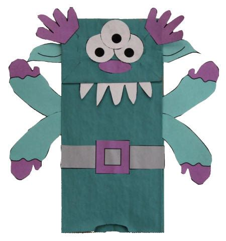 paper bag puppet craft paper bag template images