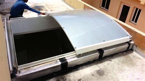 instalar lara techo techo claraboya o cupula corrediza manual policarbonato