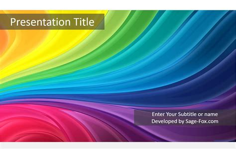 colorful stripes powerpoint template free colorful