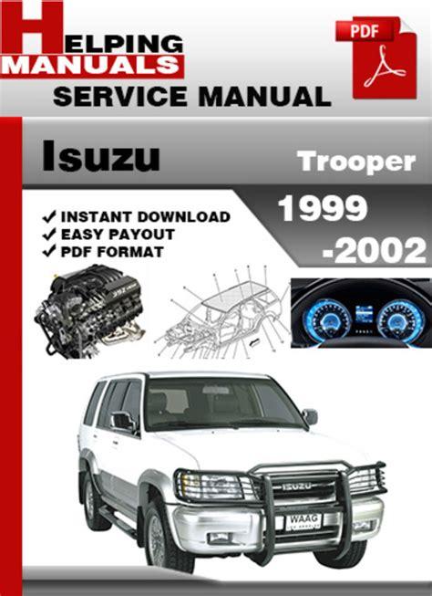 free download parts manuals 1999 isuzu trooper windshield wipe control service manual 2002 isuzu trooper workshop manual download 1998 2002 isuzu trooper workshop