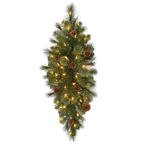 pre lit swag 32 in pre lit led pine artificial