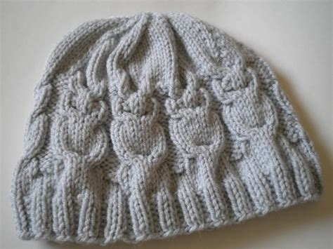 Knit Owl Hat Pattern A Knitting