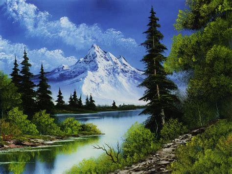 bob ross paints new kort bilder naturbilder