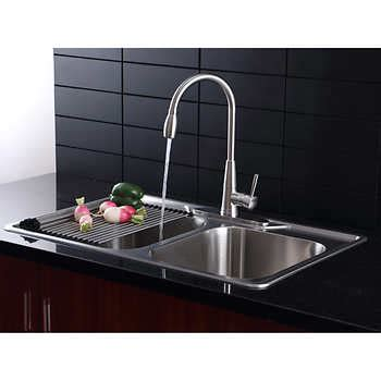 kitchen sink and faucet combo faucets costco