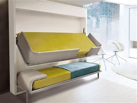 that folds into bunk beds the innovative lollisoft bunk pull bed by giulio manzoni