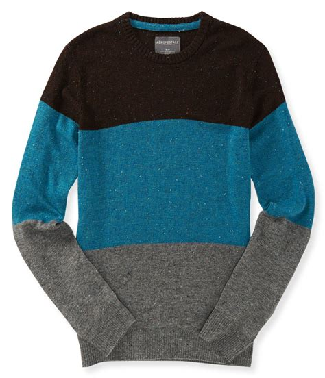 mens knit pullover aeropostale mens colorblock knit pullover sweater ebay