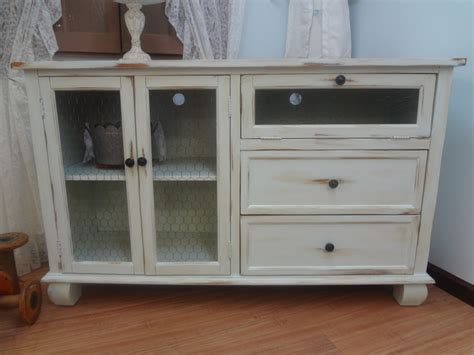 shabby chic tv stand shabby chic rustic entertainment center tv stand by