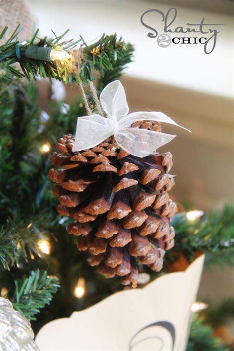 pine cones tree ornaments diy pinecone ornaments my tree shanty 2 chic