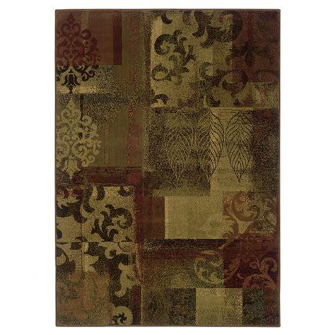 allen roth area rugs shop allen roth bodega rectangular floral woven area