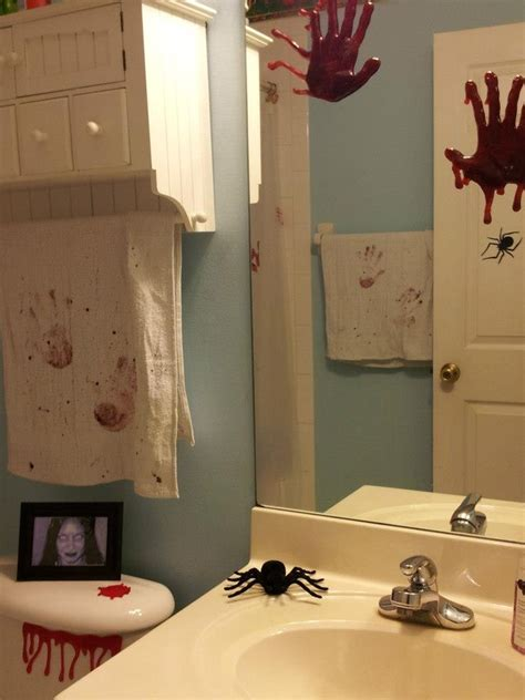 acrylic paint dollar tree bloody bathroom the towels were bought at dollar tree and