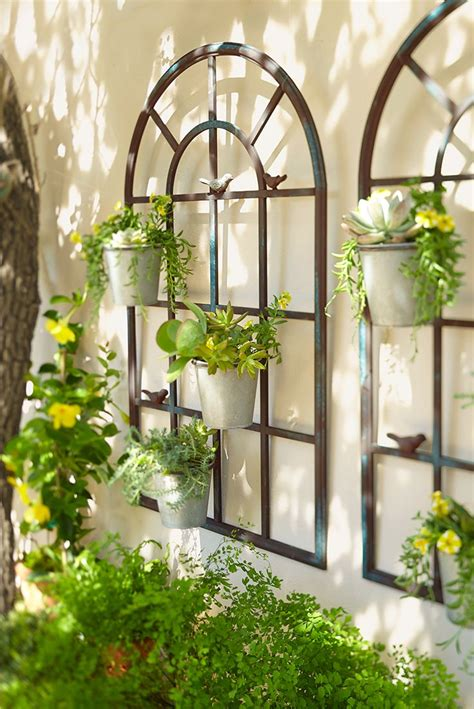 outdoor garden wall decor best 25 wall planters ideas on garden wall