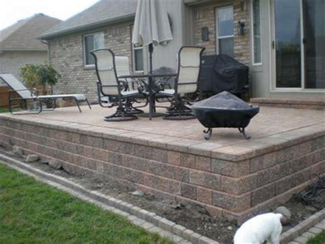 raised paver patio designs great raised concrete patio design ideas patio design 295
