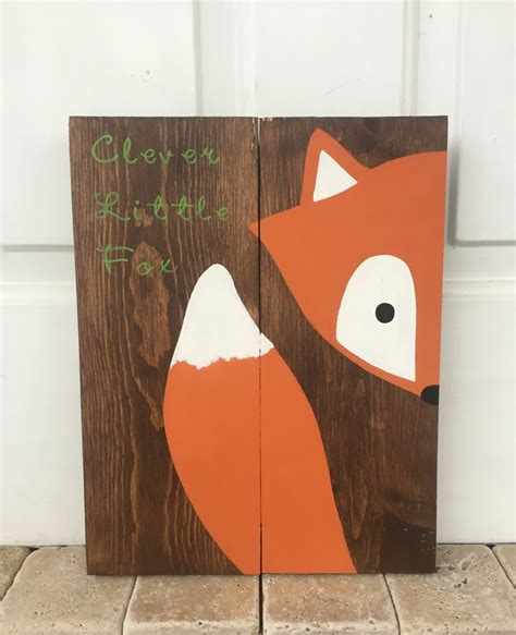 fox nursery decor clever fox sign fox nursery sign fox decor fox