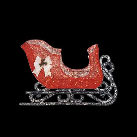 led santa sleigh home accents 71 5 in led lighted acrylic