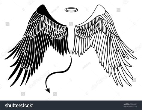 angel devil wings stock vector 38464081 shutterstock