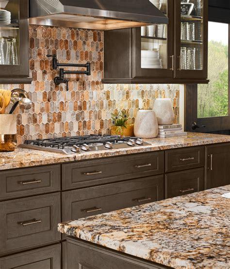 Backsplash Tile Ideas For Bathroom caravelas gold granite taos picket contemporary