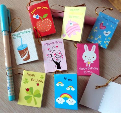 greeting card supplies 64pcs lot creative mini small greeting cards for