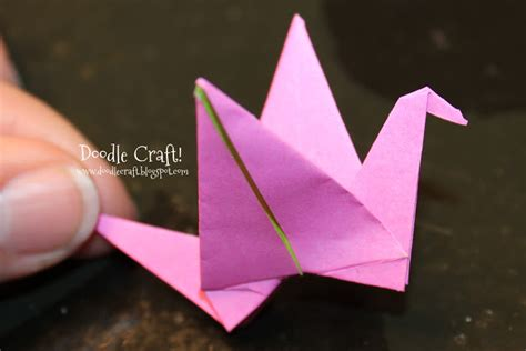 how to make an origami crane that flaps its wings doodlecraft origami flapping paper crane mobile