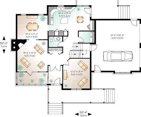 Multi Family Home Plans Duplex house plan 65135 at familyhomeplans com
