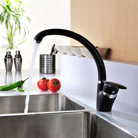 modern kitchen sink faucets modern rotatable black most reliable kitchen sink faucets