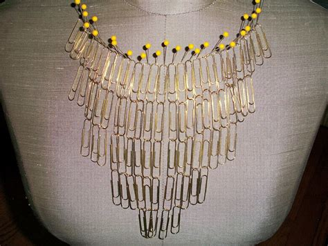 paper clip crafts make a paperclip statement necklace 187 dollar store crafts